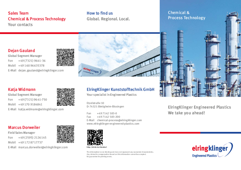 [Translate to Koreanisch - 한국어:] Flyer Chemical and Process Technology